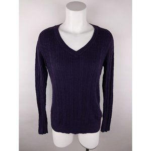Sonoma Solid Cotton Blend Ribbed Pullover Sweater